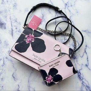 BUNDLE💕Kate Spade Floral Crossbody & Cardholder